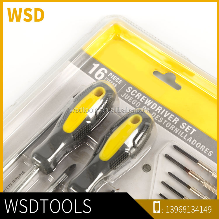 House tools Different types of screwdriver set