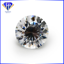 High Quality 6.50mm White CZ Diamond Cut Round 100 Facets Synthetic Cubic Zircon