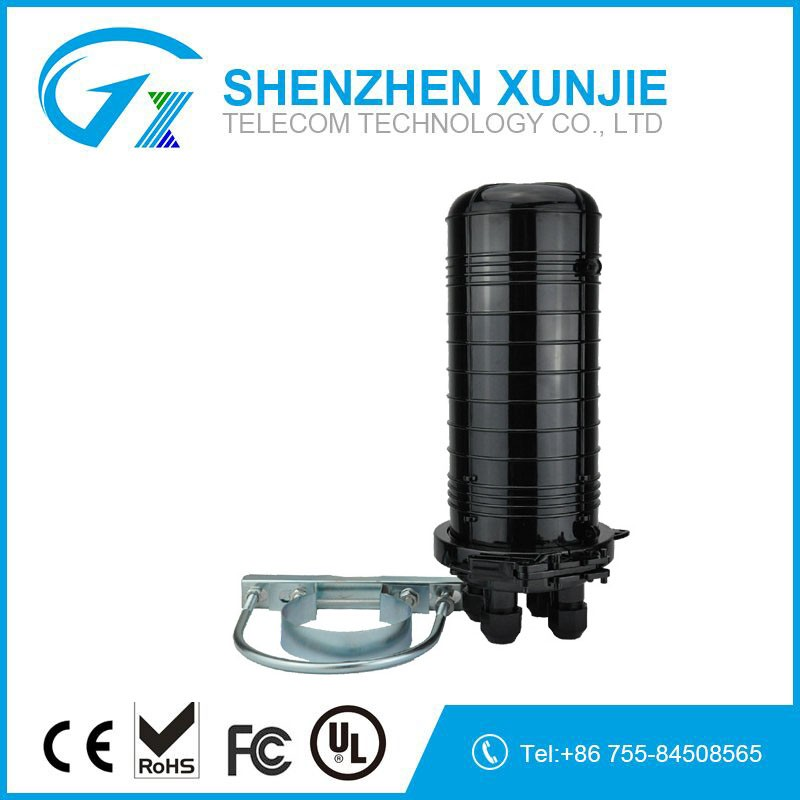 FTTx waterproof 72 core fiber optic splice closure 3 in 3 out cable entry ports IP65 joint closure