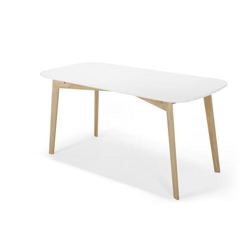 Scandinavian modern white oval dining <strong>table</strong>