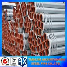 zinc coating steel pipe threaded and plain head!scaffolding tubing price!gi steel pipe,tube