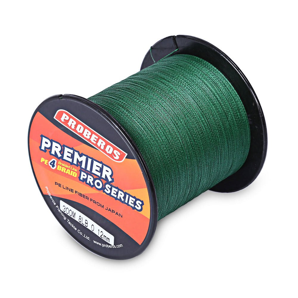 PROBEROS 300M PE Braided Fishing Line 4 Stands 6LBS to 80LB Multifilament Fishing Line Angling Accessories 5 Colors