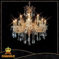 Chinese tradition crystal lotus light candle chandelier