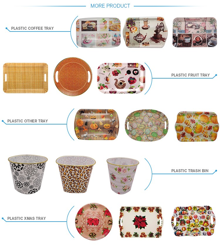 Dishes & Plates Dinnerware Type and Plastic Type melamine tray