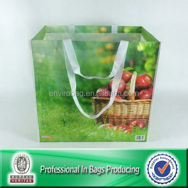 Lead free Recycled Bottle Fabric Reusable NORMA Supermarket Fruit Packaging Bag