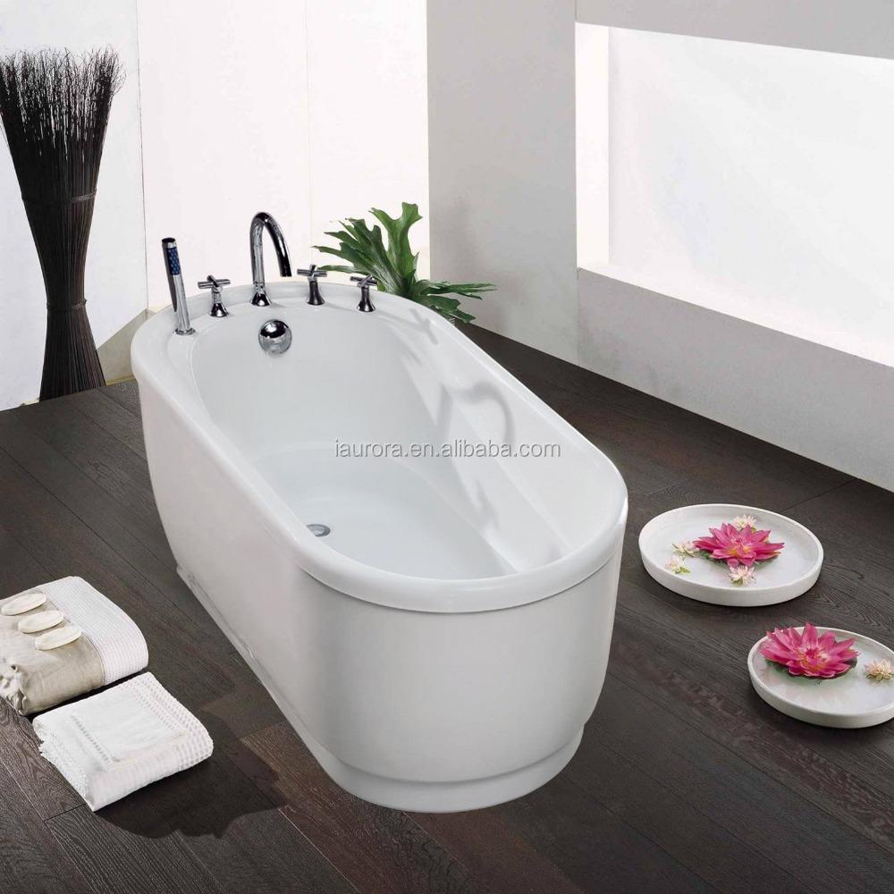Small deep white acrylic bathtub kids bath tub with seat for Small but deep bathtubs
