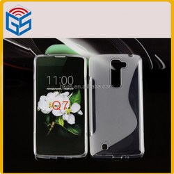 Innovative Products For Sell S Line Design Soft Gel Tpu Case For LG K7 Q7 M1 MS330 For LG Tribute 5 LS675 Back Cover