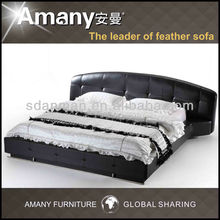 2013 latest simple style leather bed T1102P