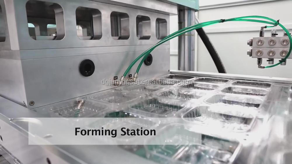 disposable plastic tableware vacuum forming machine