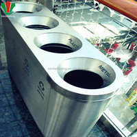 large size garbage4 compartment segregation bins