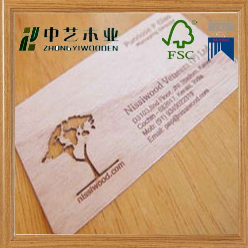 Trade assurance high quality wholesale wooden business name card customized size