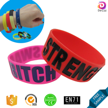 Pyramind embossed red wide rubber bracelets personalized,silicone decenario bracelets,man watch