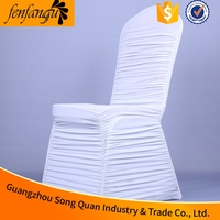 Lycra Fabric Spandex White Wedding Chair Cover