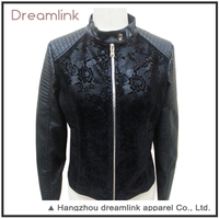 2016 New fashion pure pu leather jackets women