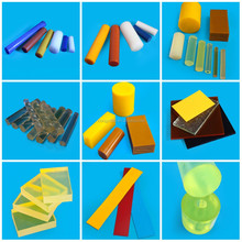 Custom made PU hard rubber rods colorful polyurethane plastic rod