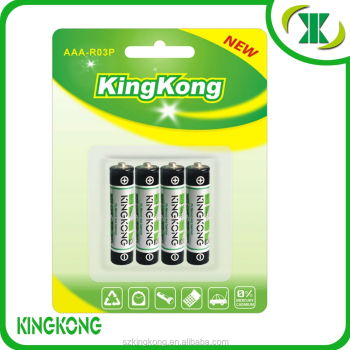 1.5V R03 UM4 AAA heavy duty carbon zinc battery