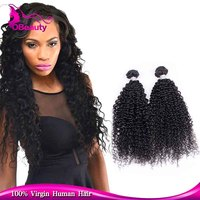 Raw virgin top milky way afro kinky curly braiding human hair