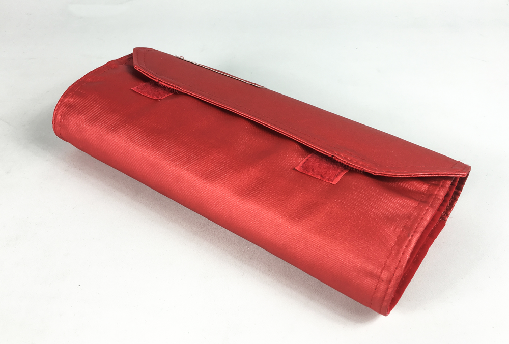 Hot supply factory price custom made red roll up leather tool bag