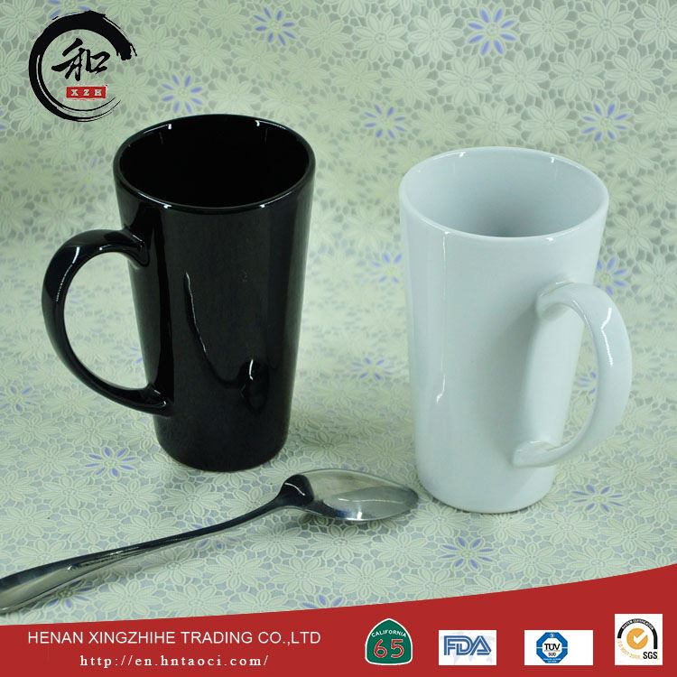 China factory high quality ceramic white black coffee mugs