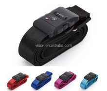 Wholesale tsa lock travel durable pp/polyester/nylon luggage strap belt