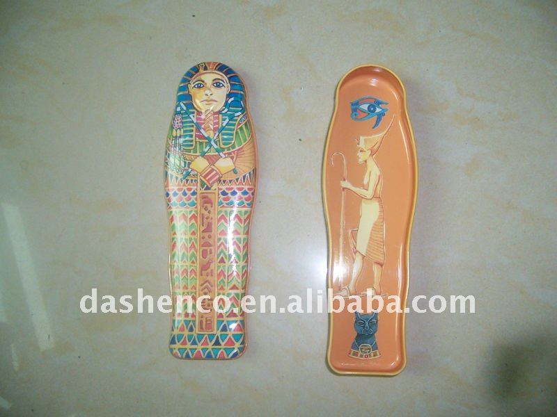 mummy shaped tin pencil case