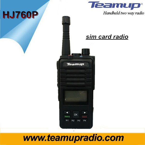 Walkie Talkie Internet Sim Card Two-way radio with with GPS tracking
