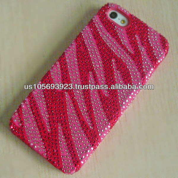 Newest Model Diamond Crystal Bling TPU Case for Iphone5 Combo Mobile Phone Case