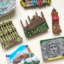 Home Decoration 3d polyresin souvenir <strong>fridge</strong> custom tourism refrigerator magnet