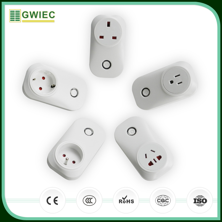 GWIEC Manufacturer Eu/Au/Usa Scoket Home Automation Wifi Power Smart Socket