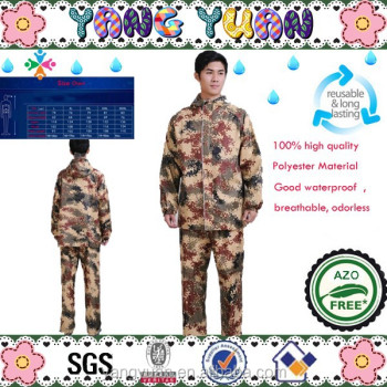 Outdoor Camouflage Raincoats With Size