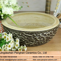 Factory direct Counter top ceramic art Washbasins