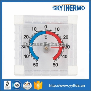 plastic stick on window dial type decorative indoor outdoor thermometer