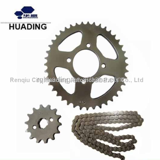 420 14T/41T Front/Rear motorcycle sprockets and chain kit for cd70 motorcycle