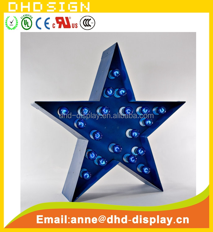 Marquee Vintage 3d STAR Metal Lights