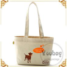 custom wholesale printed long handle casual canvas bag