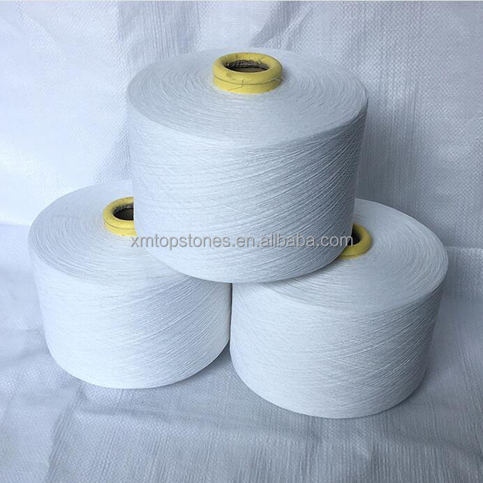 High quality raw combed cotton polyester blended yarn 40s/2 for towel