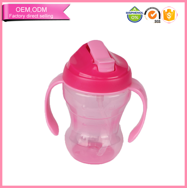 Plastic Baby Drinking Plastic Sippy Cup Feeder with OEM Design