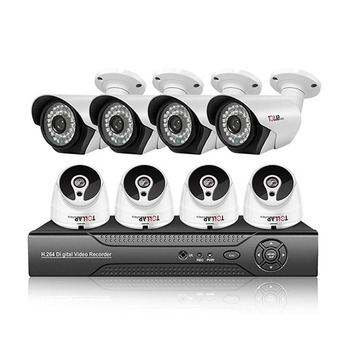 Best selling!!! night vision outdoor surveillance security camera 1080 8 channel ahd kit cctv dvr security camera system