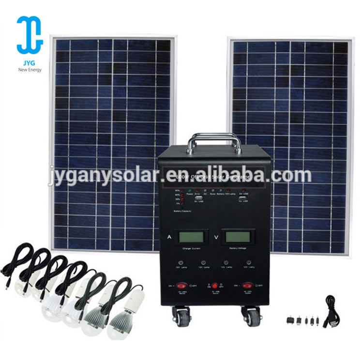 Portable 100W home solar panel <strong>energy</strong> power iron system with USB charger