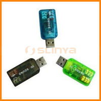 USB 3D Sound Card Virtual 5.1 Made in China with high quality