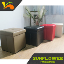 Hot sell furniture for house and hotel using leather furniture leather ottoman pouf