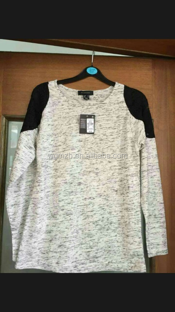 Lady's long sleeve shirt stock