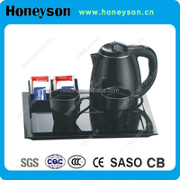 Stainless Steel Electric Tea Kettle Tray Set