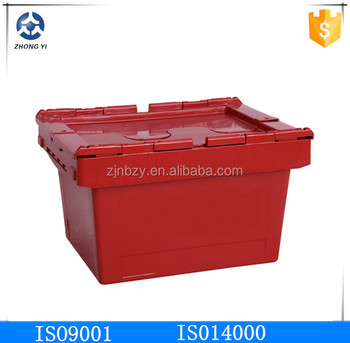 plastic green moving box
