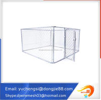 Outdoor Welded Wire Dog Run Kennel with Frame Top to Avoid Sunshine,Rain and Snow