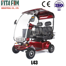 Electric Double Seat Mobility Scooter For Golf