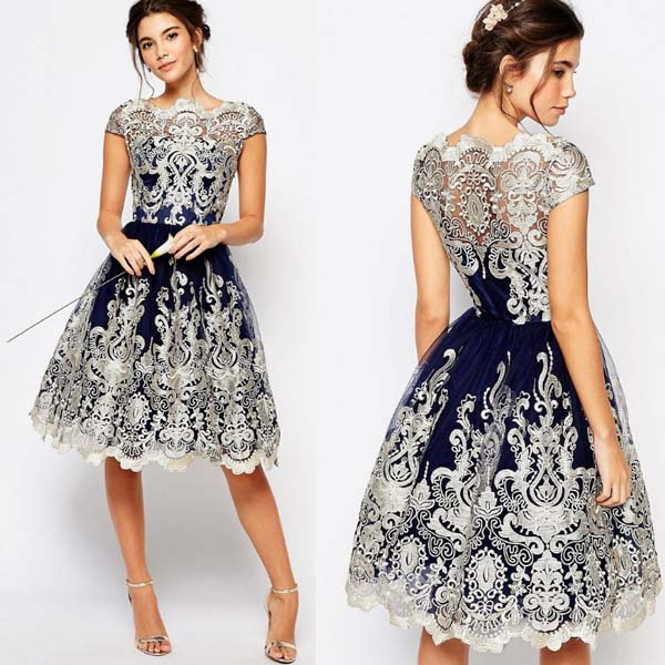 Walson 2017 western style women lace prom dresses