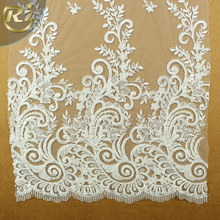 LF-376 2018 China Factory Heavy For Wedding Dress Bridal Gown Embroidery 3d African Lace Fabric