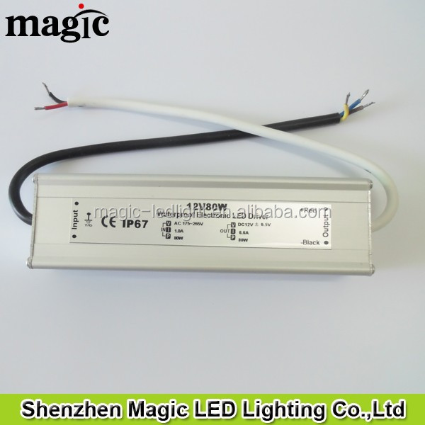 IP67 Waterproof DC12V DC24V 80W LED power supply
