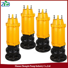 Wholesale ZHONGDA WQ Series Submerged Marine Sewage Water Pumps